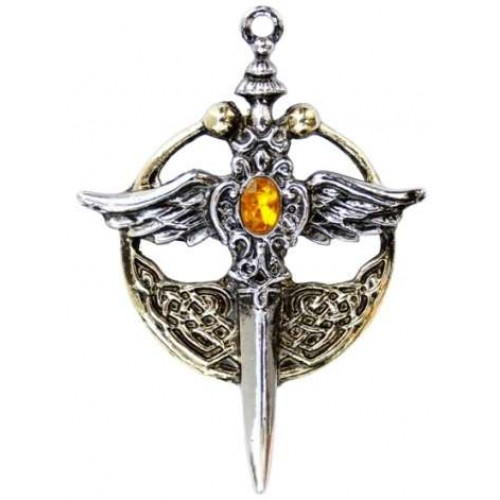 Saint Michael Relic Pewter Necklace at Jewelry Gem Shop,  Sterling Silver Jewerly   Gemstone Jewelry   Unique Jewelry
