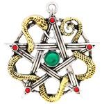 Sulis Minerva Serpent Pentagram Necklace at Jewelry Gem Shop,  Sterling Silver Jewerly   Gemstone Jewelry   Unique Jewelry