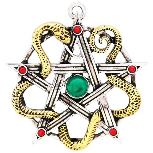 Sulis Minerva Serpent Pentagram Necklace at Jewelry Gem Shop,  Sterling Silver Jewerly | Gemstone Jewelry | Unique Jewelry