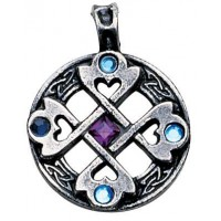 Celtic Cross Heart Pendant