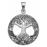 Druid Tree of LIfe Sterling Silver Pendant