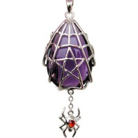 Spyder Pentacle Crystal Keeper Spider Gothic Necklace