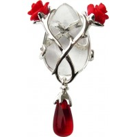 Perfect Love Rose and Thorn Crystal Keeper Necklace