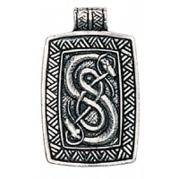 Loki Urnes Snakes Pewter Norse God Pendant Jewelry Gem Shop  Sterling Silver Jewerly | Gemstone Jewelry | Unique Jewelry